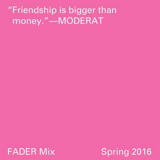 Audiomensch: THE FADER mix –Moderat